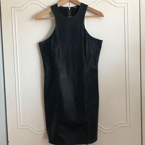 Sexy faux leather dress 2 for $16